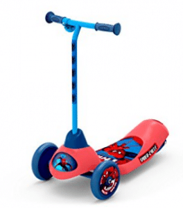 Pulse Performance Products Spider-Man Safe Start 3-Wheel Electric Scooter, Electric Scooter for Kids