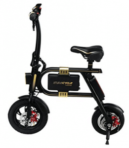SWAGTRON SwagCycle E-Bike – Folding Electric Bicycle with 10 Mile Range, Electric Scooter with seats