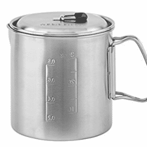 Solo Pot 900: Lightweight Stainless Steel Backpacking Pot for Solo Stove, Solo Stoves