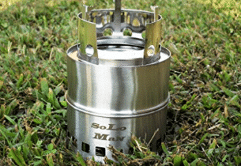 SoLoMan portable stainless Wood Stove ultra light weight
