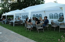 Quictent 10' x 20' Outdoor Gazebo Canopy Wedding Party Tent with 6 Removable Sidewall & Elegant Church Window