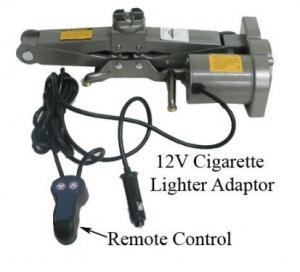 1 Ton Electric Scissor 12v Auto Car Jack Lift - 2200lb