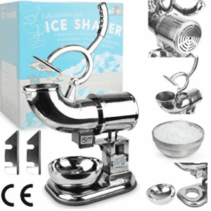 WYZworks Commercial Heavy Duty Ice Shaver with 2 Extra Blades