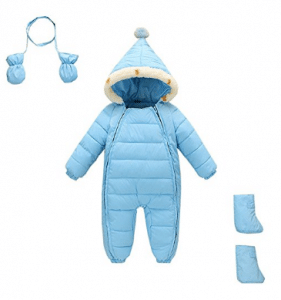 Mud Kingdom 3 Piece Baby Toddler All in One Snowsuit Romper Winter, Best Baby Snowsuits