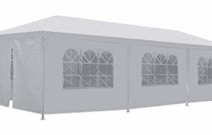 New 10'x30' White Outdoor Gazebo Canopy Party Wedding Tent Removable Walls, Wedding Canopy