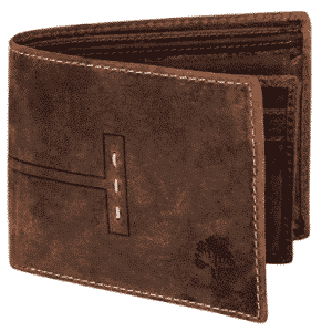 Handmade RFID Blocking Genuine Leather Bifold Wallets