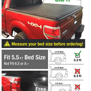 Premium TCF371019 TriFold Tonneau Truck Bed Cover For 09-14 Ford F-150, Truck Bed Covers