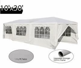 Peaktop 10'x30' Heavy Duty Outdoor Party Wedding Tent Canopy Gazebo Storage Shelter Pavilion