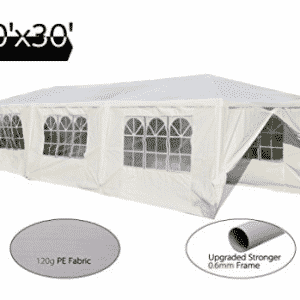 Peaktop 10'x30' Heavy Duty Outdoor Party Wedding Tent Canopy Gazebo Storage Shelter Pavilion