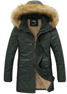 Wantdo Men's Winter Thicken Cotton Jacket With Fur Hood - Parka Jackets for Men
