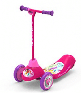 Pulse Performance Products Disney Princess Safe Start 3-Wheel Electric Scooter, Electric Scooter for Kids