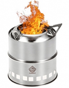 Wood Burning Camping Stove, Folding Portable Lightweight Stainless Steel Stove, Wood Burning Stoves