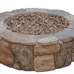 Bond Mfg 67456 Pinyon Gas Stone Look Fire Pit, 28 by 28 by 9.1""