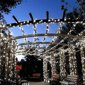 Qedertek Solar Christmas String Lights, 72ft 200 LED Outdoor Fairy Decorative Lights with 8 Lighting Modes for Home, LED Christmas lights
