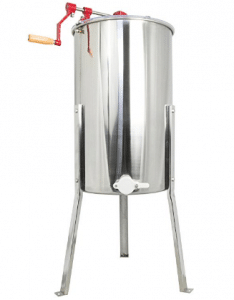 VIVO New Large Three 3 Frame Stainless Steel Honey Extractor SS Model (BEE-V003D)