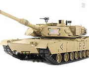 2.4Ghz 1/16 Scale Radio Remote Control US M1A2 Abrams RC Air Soft RC Battle Tank Smoke & Sound