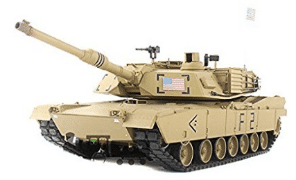 2.4Ghz 1/16 Scale Radio Remote Control US M1A2 Abrams RC Air Soft RC Battle Tank Smoke & Sound - Best RC Tanks