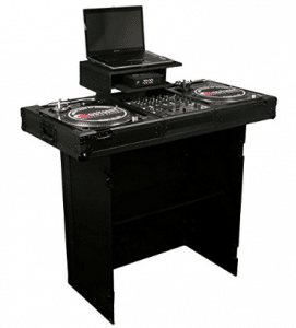 Odyssey FZF3336BL Deluxe Folding Dj Stand/Facade