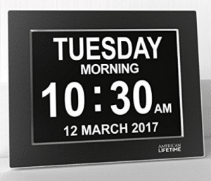 Premium Version - Day Clock - Extra Large Impaired Vision Digital Clock