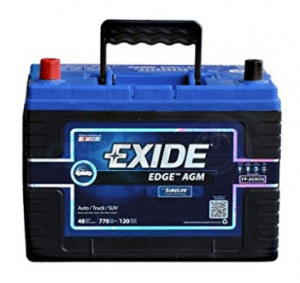 Exide Edge FP-AGM34 Flat Plate AGM Sealed Automotive Battery