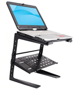 PYLE-PRO PLPTS26 Laptop Computer Stand for DJ with Storage Shelf