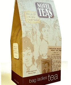 Novel Teas contains 25 teabags individually tagged with literary quotes from the world over