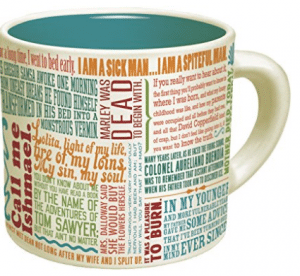 First Lines Literature Coffee Mug