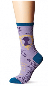"Socksmith Womens' Novelty Crew Socks ""Jane Austen"" - 1 pair"
