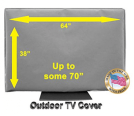"""Outdoor TV Cover - Outdoor TV Covers (65""""- 70"""") Light Gray"""