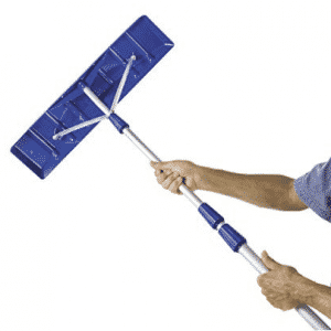 "Snow Joe RJ204M 21' Twist-n-Lock Telescoping Snow Shovel Roof Rake with 6"" by 25"" Poly Blade"