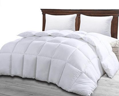 Queen Comforter Duvet Insert White - Quilted Comforter with Corner Tabs - Goose Down Comforters