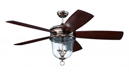 Craftmade FB60TS5, Fredericksburg Five Blade Tarnished Silver 60 Inch Ceiling Fan with With Light