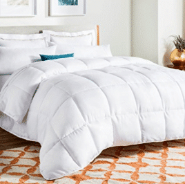 LINENSPA All-Season White Down Alternative Quilted Comforter - Cotton Comforters