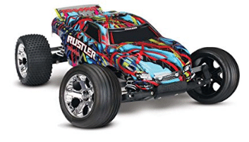 Traxxas Rustler 1/10 Scale Stadium Truck with TQ 2.4GHz Radio System - RC Cars