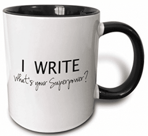 3dRose I Write What's Your Superpower Fun Gift for Writers