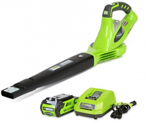 GreenWorks 24252 G-MAX 40V 150 MPH Variable Speed Cordless Blower, Electric Leaf Blowers