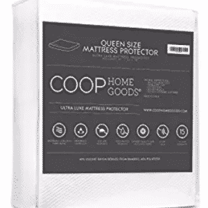 Lulltra Bamboo derived Viscose Rayon Mattress Pad Protector Cover by Coop Home Goods