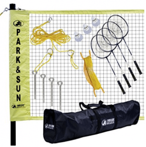 Park & Sun Sports Portable Indoor/Outdoor Badminton Net System with Carrying Bag