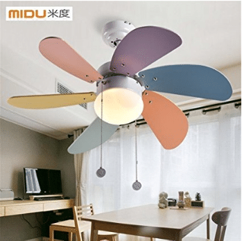 Lilamins Children Ceiling Fan Fan Lamp Fan Led Ceiling Fans