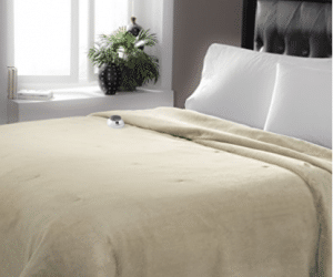 Serta Luxe Plush Low-Voltage Electric Heated Micro-Fleece Blanket