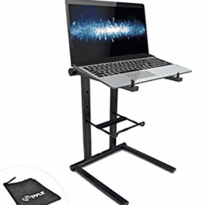 Pyle PLPTS35 - Portable Folding Tabletop DJ Gear Stand for Laptops