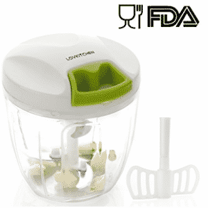 Manual Food Chopper-LOVKITCHEN Compact and Powerful Hand Held Vegetable