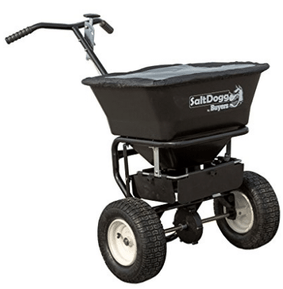 SaltDogg WB101G Walk Behind Broadcast Salt Spreader, Black