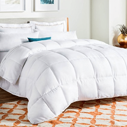 LINENSPA All-Season White Down Alternative Quilted Comforter - Goose Down Comforters
