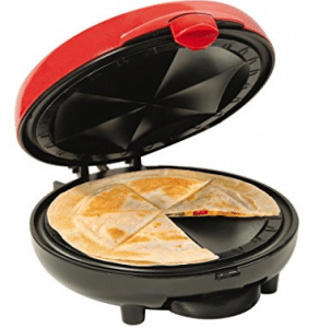 Quesadilla Makers, Nostalgia EQM200 6-Wedge Electric Quesadilla Maker with Extra Stuffing Latch