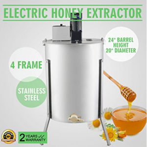 OrangeA Honey Extractor Bee Honey Extractor Electric Honeycomb Spinner 4 Frame Stainless Steel