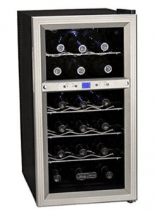 Koldfront 18 Bottle Dual Zone Thermoelectric Wine Cooler
