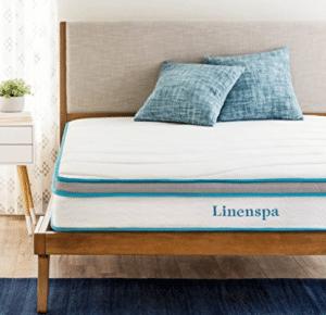 "LinenSpa 8"" Memory Foam and Innerspring Hybrid Mattress"