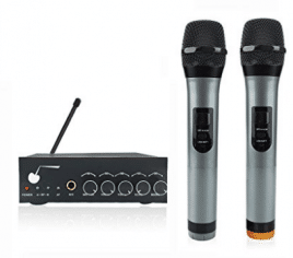 ARCHEER VHF Bluetooth Wireless Microphone System Dual Channel Handheld Microphone Professional Karaoke