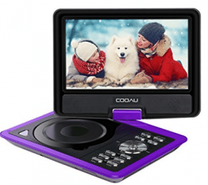 COOAU 11.5'' Portable DVD Player with 9.5'' Swivel Screen